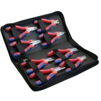 Jeu de pinces à bec effilé pour aiguilles InLine® Electronics, 8 pièces