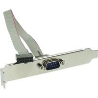 Équerre de fente sériel, InLine®, 9-pol prise à 10-pin connecteur femelle, 1:1, 0,6m