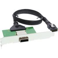 Support PCI SAS InLine® avec câble ext. SFF-8088 à int. SFF-8087 0.5m