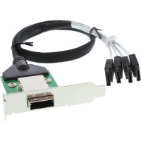 Support InLine® SAS à profil bas avec câble ext. SFF-8088 à int. 4x SATA 0.5m