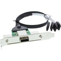 Support de connecteur d'adaptateur SAS InLine® avec câble ext. SFF-8088 à int. 4x SATA 0.5m