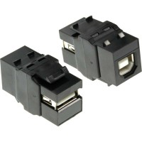 Module Snap-In USB 2.0, USB 2.0 A femelle / femelle, boîtier blanc