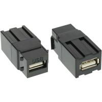 Module USB 2.0 Keystone Snap-In, USB 2.0 A femelle / femelle, boîtier blanc
