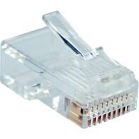 Prise modulaire InLine® 10P10C pour le sertissage d'un câble inscrit à un câble rond 100 pcs. pack
