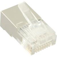 Connecteurs blindés mâles RJ45 InLine® 8P4C pour câbles ronds, 100 pièces. Pack