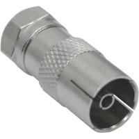 Adaptateur Connecteur F (SAT) sur IEC-prise femelle (Antenne)