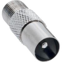 Adaptateur coaxial, IEC- prise (Antenne) sur Connecteur F femelle