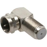 Adaptateur angle F, Connecteur F / Connecteur F femelle, métal