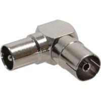 Connecteur antenne coaxial prise/accouplement, anguleux, métal