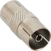 Connecteur coaxial d'antenne InLine® IEC mâle à femelle en métal 10 pcs. pack