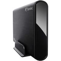 """Ext. Boîtier 3,5 """", USB 3.0, Fantec DB-ALU3 noir, pour SATA-HDD"""