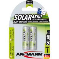 """Ansmann """"SOLAR"""" batterie rechargeable NiMH, Mignon (AA), 800 mAh, 2pcs. blister (5035513)"""