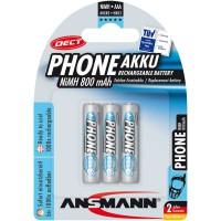 """Ansmann """"Phone DECT"""" accumulateur NiMH, Micro (AAA), 800 mAh, 3 pcs. (5030142)"""