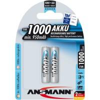 Ansmann accumulateur NiMH, Micro (AAA), 1000mAh, 2 x blister (5030892)