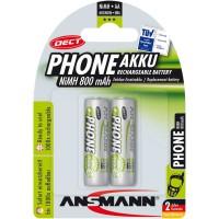 "Ansmann ""Phone DECT"" accumulateur NiMH, Mignon (AA), 800 mAh, 2 pcs. (5030902)"