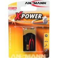 Ansmann alcaline batterie haut de gamme, 9 Volt Block (E), 1 pcs. (5015643)
