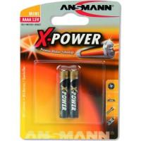 Ansmann pile alcaline X-Power, (AAAA), pack de 2 (1510-0005)