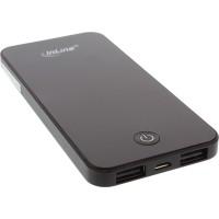 InLine® USB PowerBank 4000 mAh avec écran à LED de forme iPhone