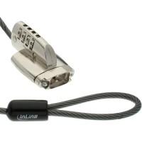 Serrure de sécurité InLine® D-Sub Port pour D-Sub VGA et COM 4,4 mm x 2 m