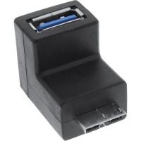 Adaptateur InLine® USB 3.0 Type A femelle à Micro-B coudé
