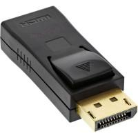 Adaptateur InLine® DisplayPort, DisplayPort mâle vers HDMI femelle, 4K / 60Hz, avec audio, noir
