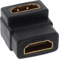 Adaptateur HDMI InLine® HDMI Une femelle à une femme angelée en plaqué or