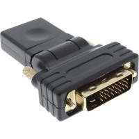 Adaptateur InLine® HDMI à DVI HDMI femelle à DVI mâle souple plaqué or 4K2K