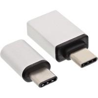 Kit adaptateur InLine® USB Type-C, Type C mâle vers Micro-USB femelle ou USB3.0 A femelle