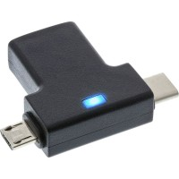 Adaptateur InLine® USB 3.1 / 2.0 OTG T, mâle de type C ou micro-USB vers femelle