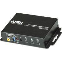 Convertisseur VGA vers HDMI, ATEN VC182, avec scaler, FullHD (jusqu'à 1.080p), prend en charge les formats 16: 9 et 4: 3, noir