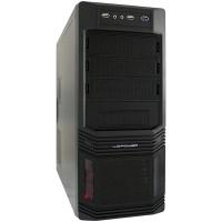 Tour midi Case LC-Power ATX PRO-925B PLUS, noir, avec alimentation déjà puissante en 620W 80 PLUS Bronze