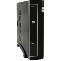 Boîtier PC LC-Power Mini-ITX 1370BII, 2 x ports USB-3.0, avec bloc d'alimentation de 90 W, noir