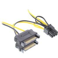 Adaptateur secteur InLine® 2x SATA à 6 broches pour carte graphique PCIe 0,15 m