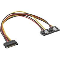 Câble Y d'alimentation InLine® SATA femelle à 2x mâle 0.3m