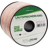 Câble haut-parleur InLine® 2x 2.5mm² CU transparent 50m
