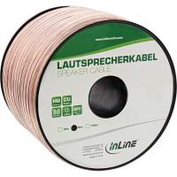 Câble haut-parleur InLine® 2x 4mm² CU transparent 50m