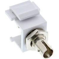 Adaptateur de composant logiciel enfichable Keystone à fibre optique InLine®, blanc, simplex ST / ST, SM, manchon en céramique