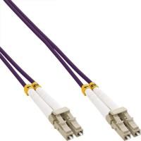 Câble duplex optique en fibres InLine® LC / LC 50 / 125µm OM4 0.5m