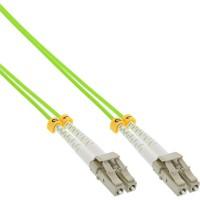 Câble duplex optique en fibre InLine® LC / LC 50 / 125µm OM5 0.5m
