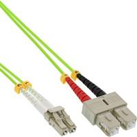 Câble duplex optique en fibre InLine® LC / SC 50 / 125µm OM5 2m