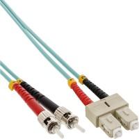 Câble duplex optique en fibre InLine® SC / ST 50 / 125µm OM3 0.5m