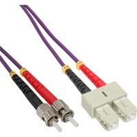 Câble duplex optique en fibre InLine® SC / ST 50 / 125µm OM4 1m