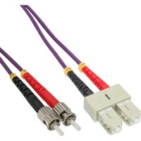 Câble duplex optique fibre optique InLine® SC / ST 50 / 125µm OM4 15m