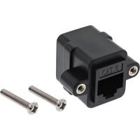 Raccord de câble de raccordement InLine® UTP 2x RJ45 femelle pour l'installation