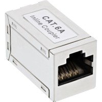 Adaptateur InLine® Cat.6A, entièrement blindé, en métal, 2x RJ45 F / F, 1: 1