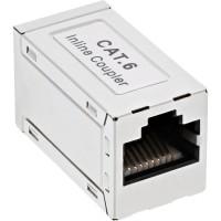 Adaptateur InLine® Cat.6, entièrement blindé, en métal, 2x RJ45 F / F, 1: 1