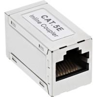 Adaptateur InLine® Cat.5e, entièrement blindé, en métal, 2x RJ45 F / F, 1: 1