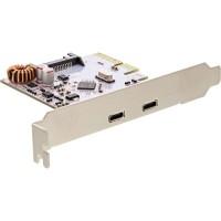 Contrôleur hôte InLine® USB 3.1, PCIe x4, 2 ports de type C, incl. support bas