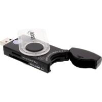Lecteur de carte mobile InLine® USB 3.0 avec 2 emplacements pour SD SDHC SDXC microSD