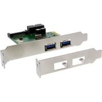 Contrôleur hôte InLine® USB 3.0 4x USB 3.0 (2 + 2) PCI-E avec support extra-plat